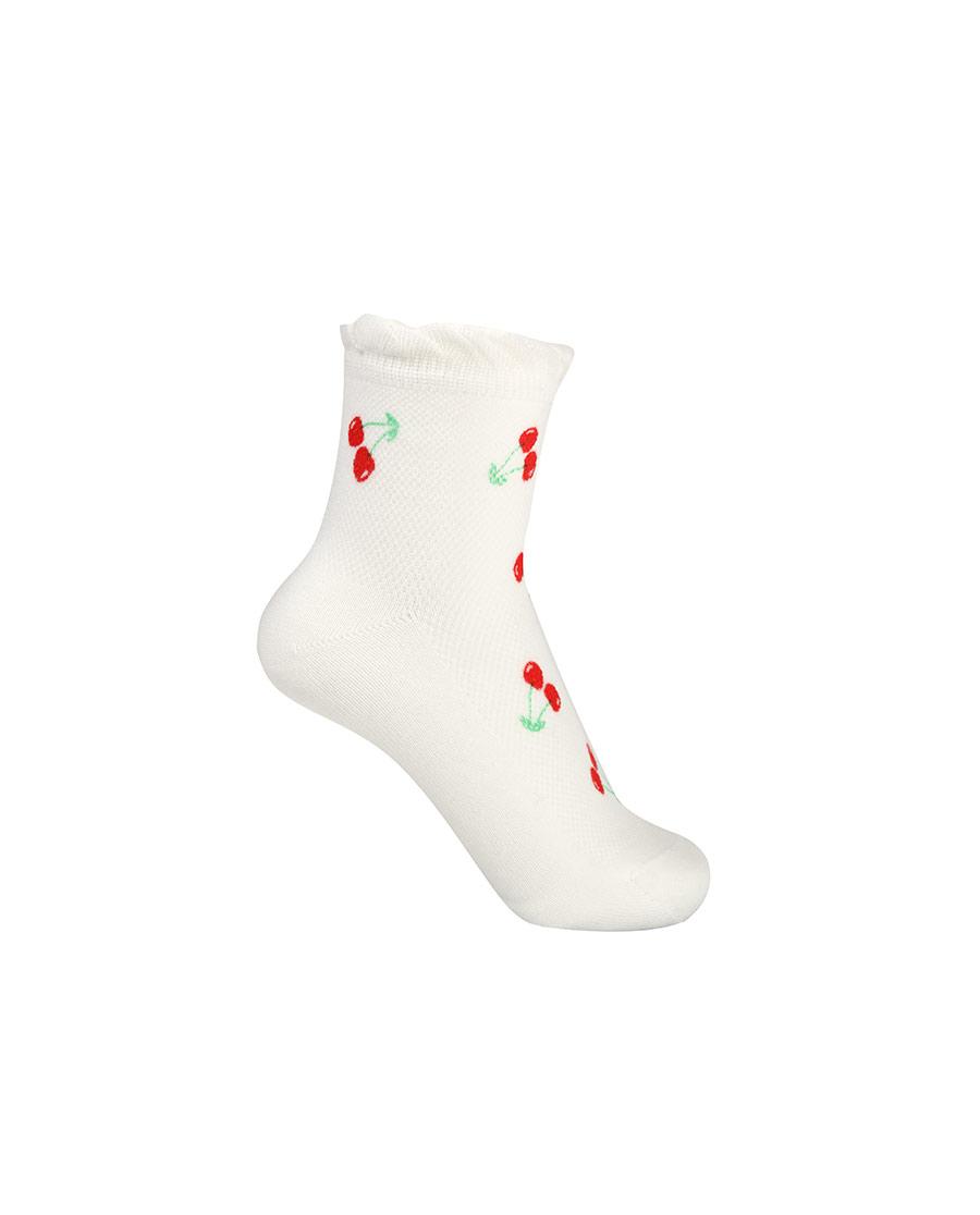 Aimer Kids袜子|爱慕儿童21SS袜子女孩樱桃印花网眼短袜