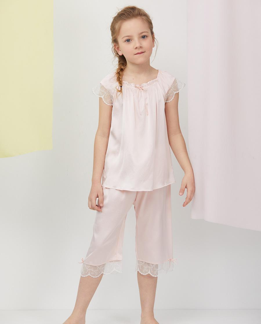Aimer Kids睡衣|爱慕儿童甜睡公主女孩七分睡裤AK1425