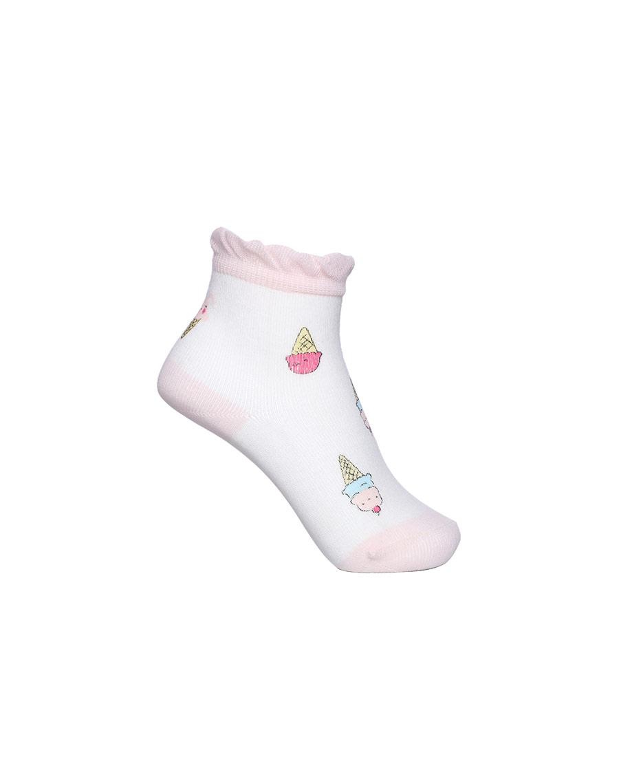 Aimer Baby袜子 爱慕婴儿21SS袜子女婴幼小兔冰淇淋印花