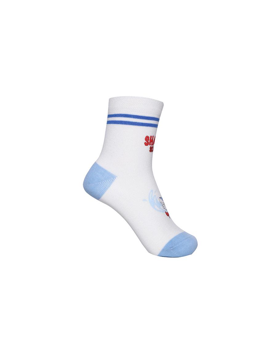 Aimer Kids袜子|爱慕儿童21SS袜子男孩鲨鱼局印短袜AK
