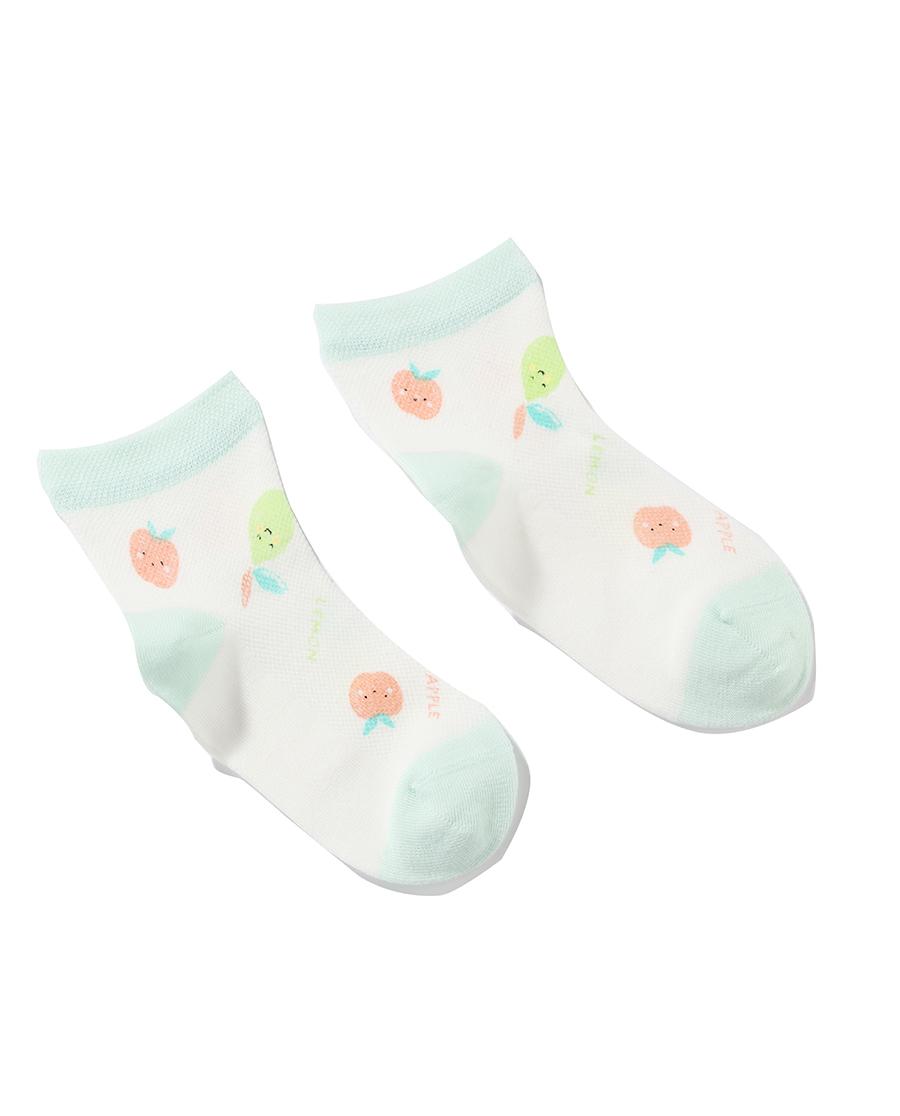 Aimer Kids袜子|爱慕儿童21SS袜子女孩苹果印花网眼短袜