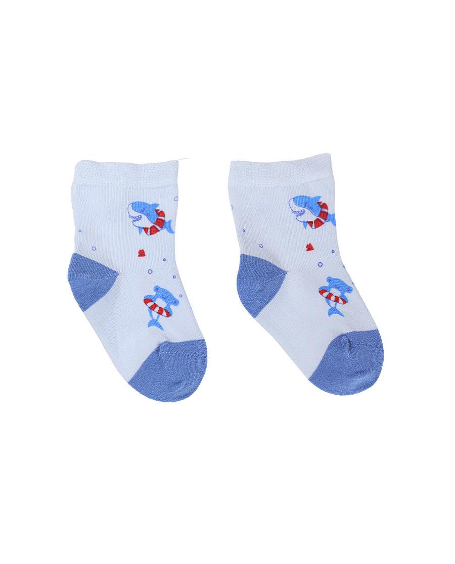 Aimer Baby袜子 爱慕婴儿21SS袜子男婴幼小鲨鱼印花短袜