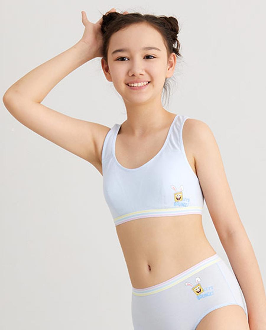Aimer Junior文胸 爱慕少年海绵宝宝兔少女二阶段短背心AJ1154832