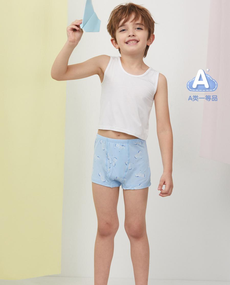 Aimer Kids内裤|爱慕儿童天使小裤MODAL印花男孩斑马中