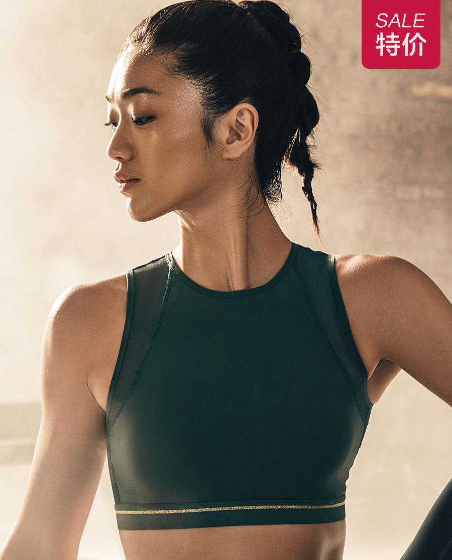 Aimer Sports文胸|爱慕运动热力健身中强度背心式薄模杯外穿文
