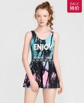 爱美丽泳衣热带之旅钢托裙式连体泳衣IM68BMZ1