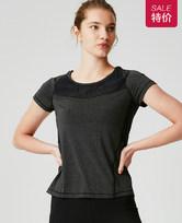 爱慕运动都市运动拼接短袖T恤AS143G21