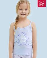爱慕儿童天使背心modal印花许愿星女童吊带AK1111131