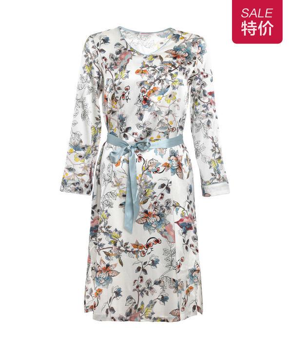 Aimer Home睡衣|爱慕家居悠享年华中长睡裙AH440521