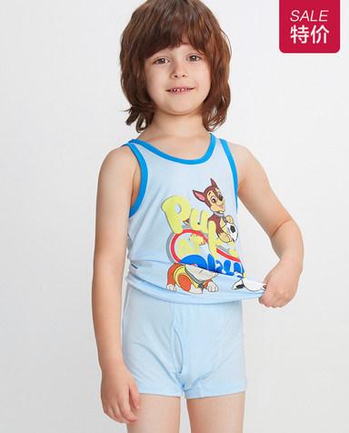 Aimer Kids内裤|爱慕儿童天使小裤MODAL汪汪队灰灰出动中腰平角裤AK2231913