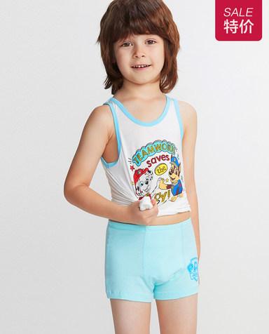 Aimer Kids内裤|爱慕儿童天使小裤棉氨纶汪汪队小利举重中腰平角裤AK2231932
