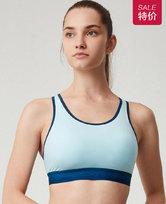 爱慕运动夏练II中强度拼色背心式文胸AS116G63