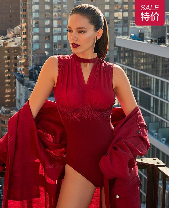 La Clover泳衣|LA CLOVER秘密宴会系列连体礼服式泳衣特别款LC68HY2