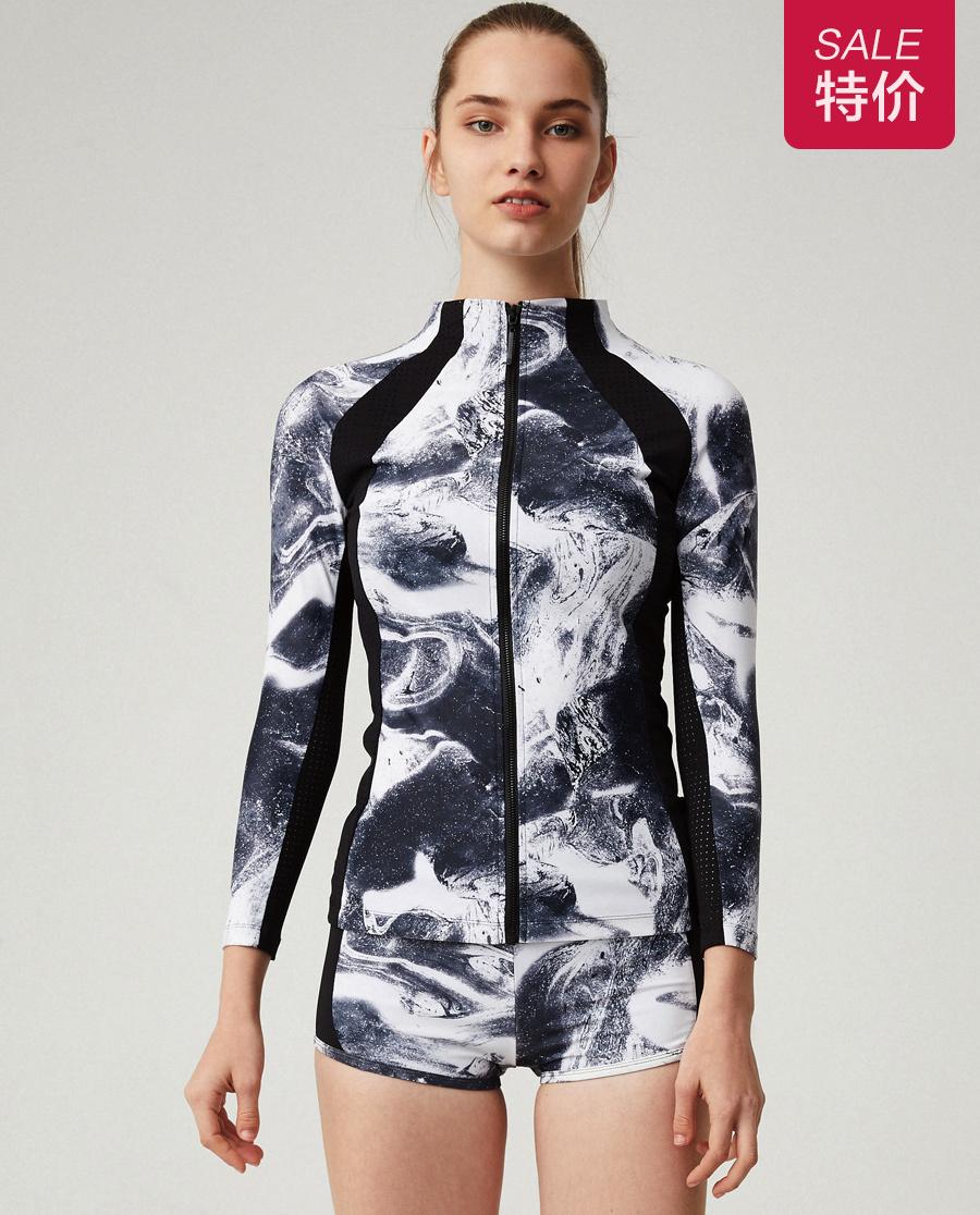 Aimer Sports运动装 爱慕运动星夜酷跑立领拉链外套AS144G13