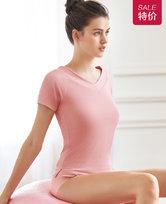 爱慕运动优美瑜伽V领短袖T恤AS143G82