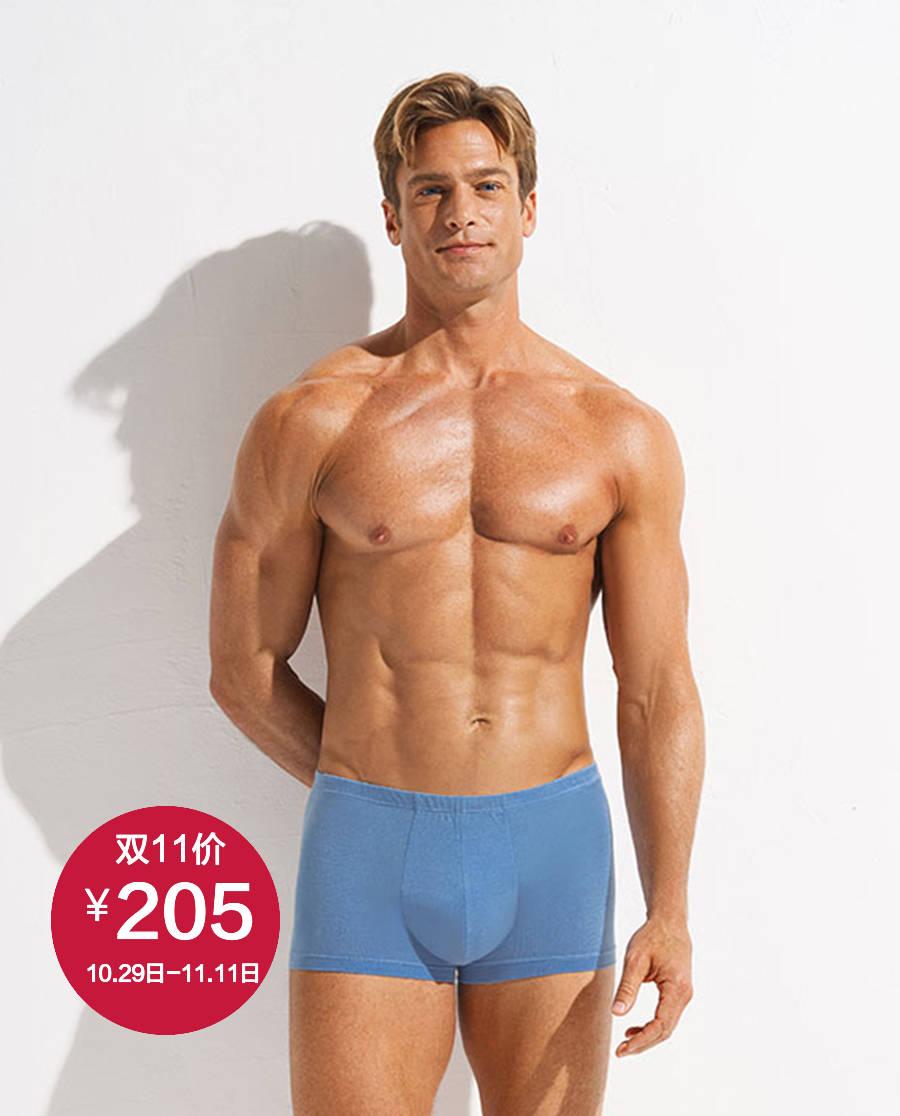 Aimer Men内裤|爱慕先生舒爽朱地系列包腰平角裤NS23D