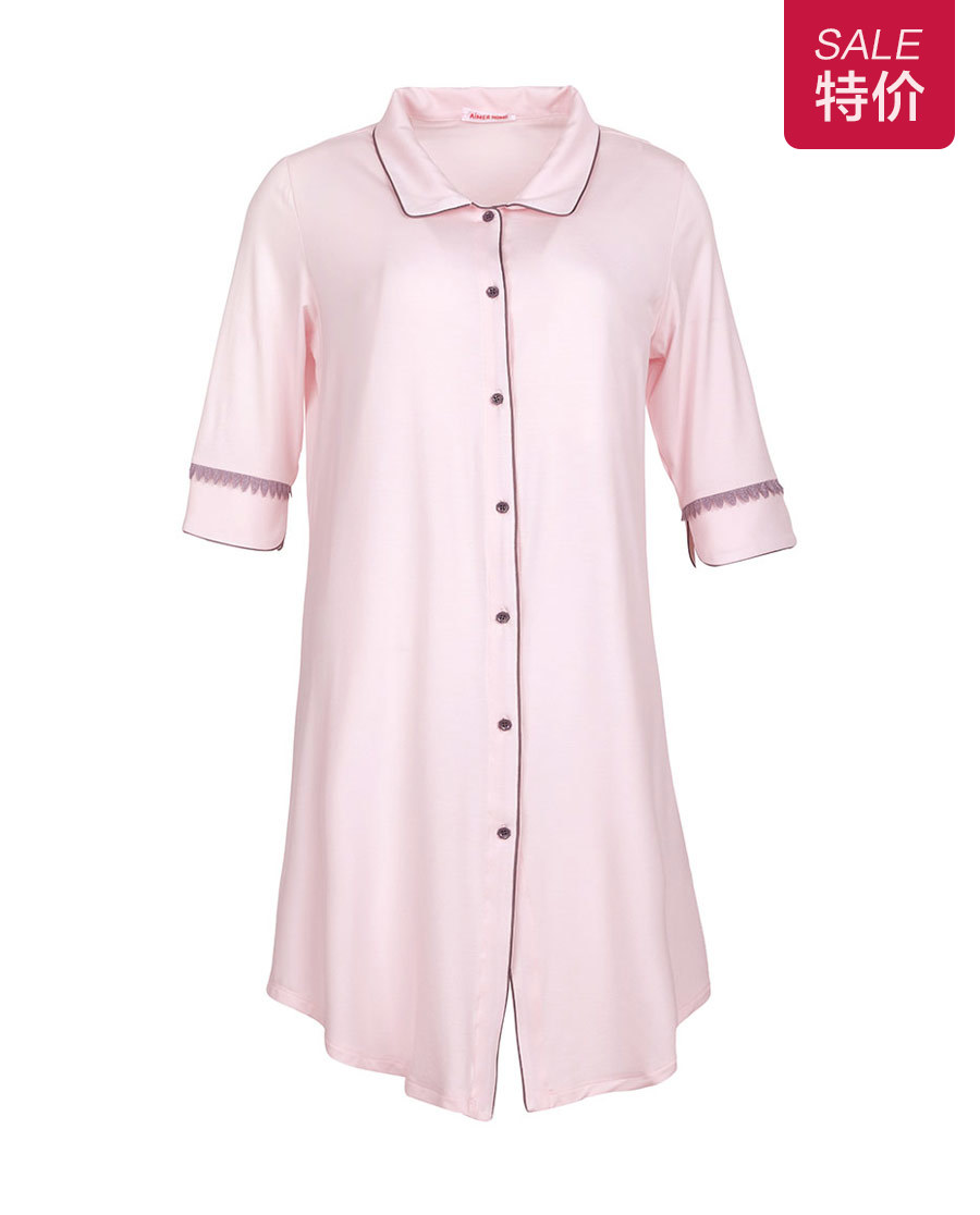 Aimer Home睡衣|爱慕家居柔姿琴享防蚊衬衫裙AH440421