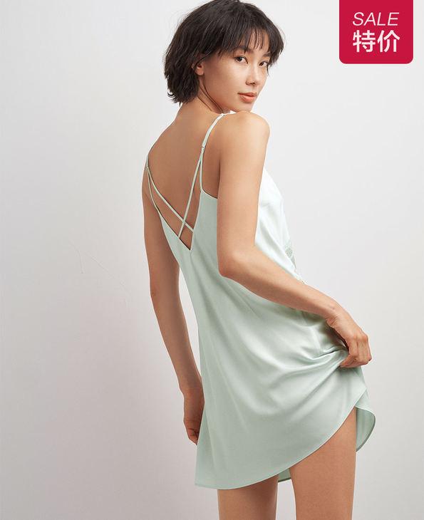 AIMER NYC睡衣|AIMER NYC爱慕CROSBY克洛斯贝细带中长睡裙AN420121