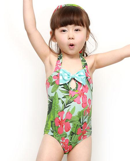 爱慕儿童专柜正品泳装女孩女童丛林密语连体泳衣ak167a51