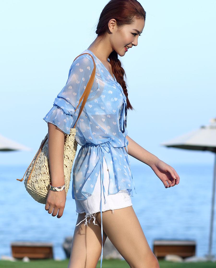 爱美丽泳衣可爱牛仔沙滩短裙im63fr1